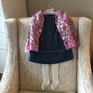 Gymboree girl jacket 3T & legging & Gap dress 2T